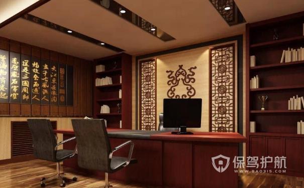 中式总裁办公室墙面设计
