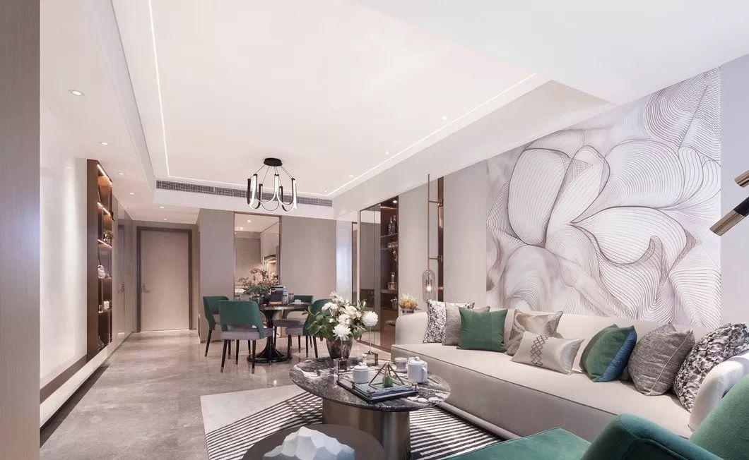 【中庭装饰】盛天公寓现代简约3房116平装修案例