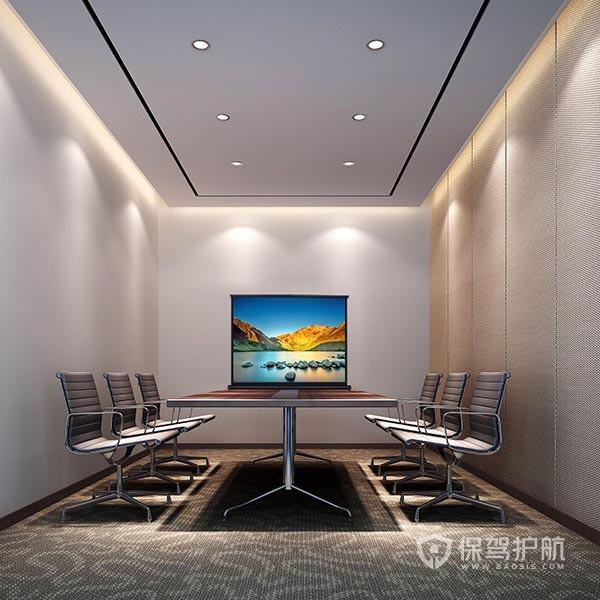 现代简约开放式会议办公室实景图
