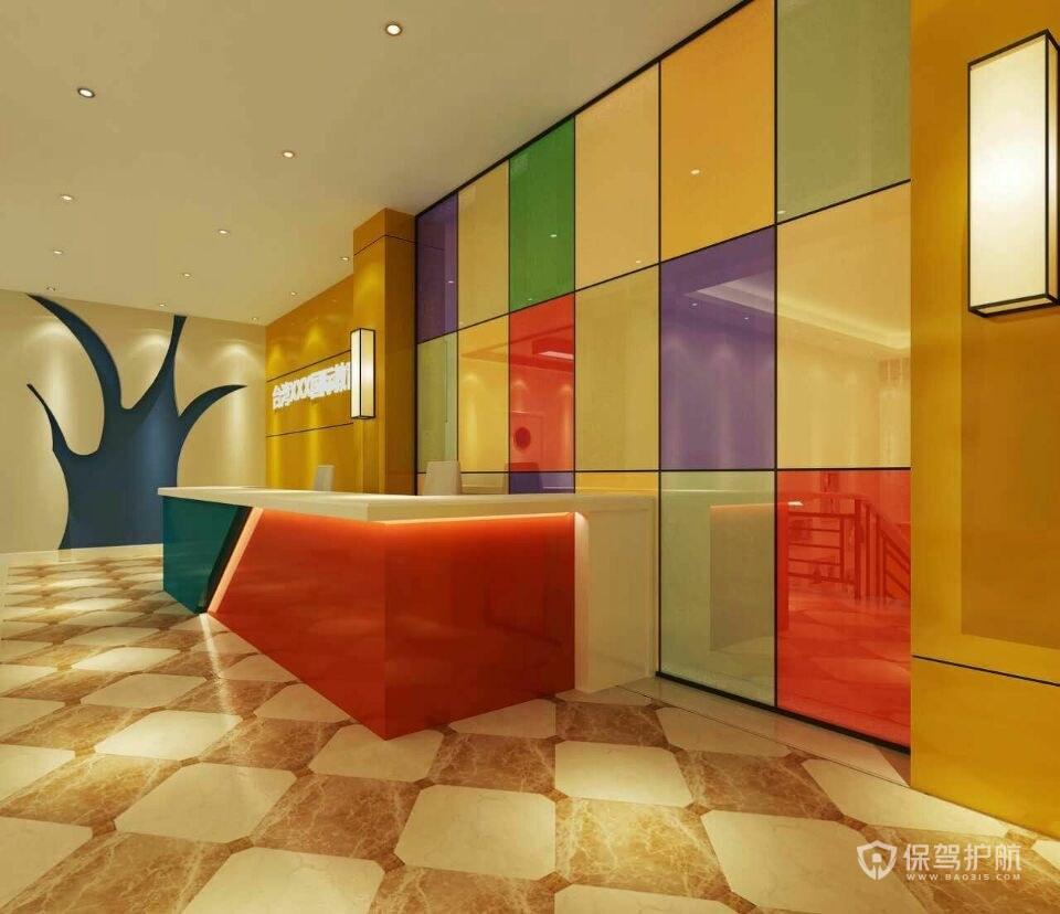 创意多色开放式办公室设计图