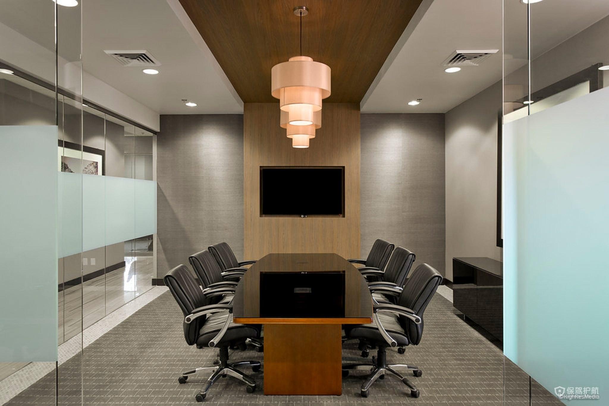 筒式吊灯开放式办公室效果图