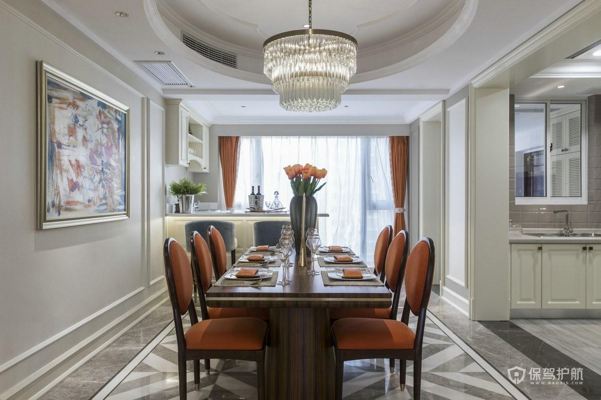 餐厅吊灯高度多少合适?餐厅水晶吊灯安装效果图