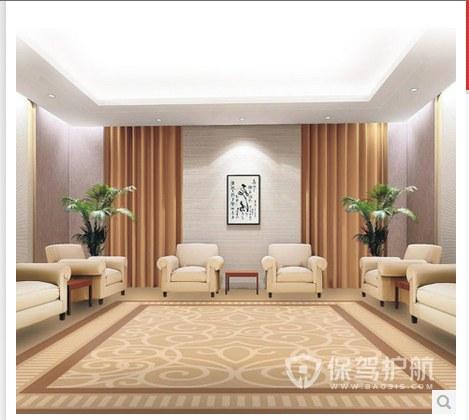 新中式简约开放式办公室效果图