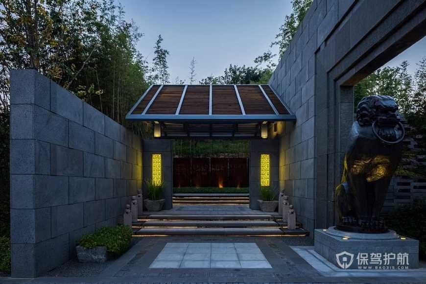 房屋大门风水禁忌及化解方法详解-中式大门装修风水