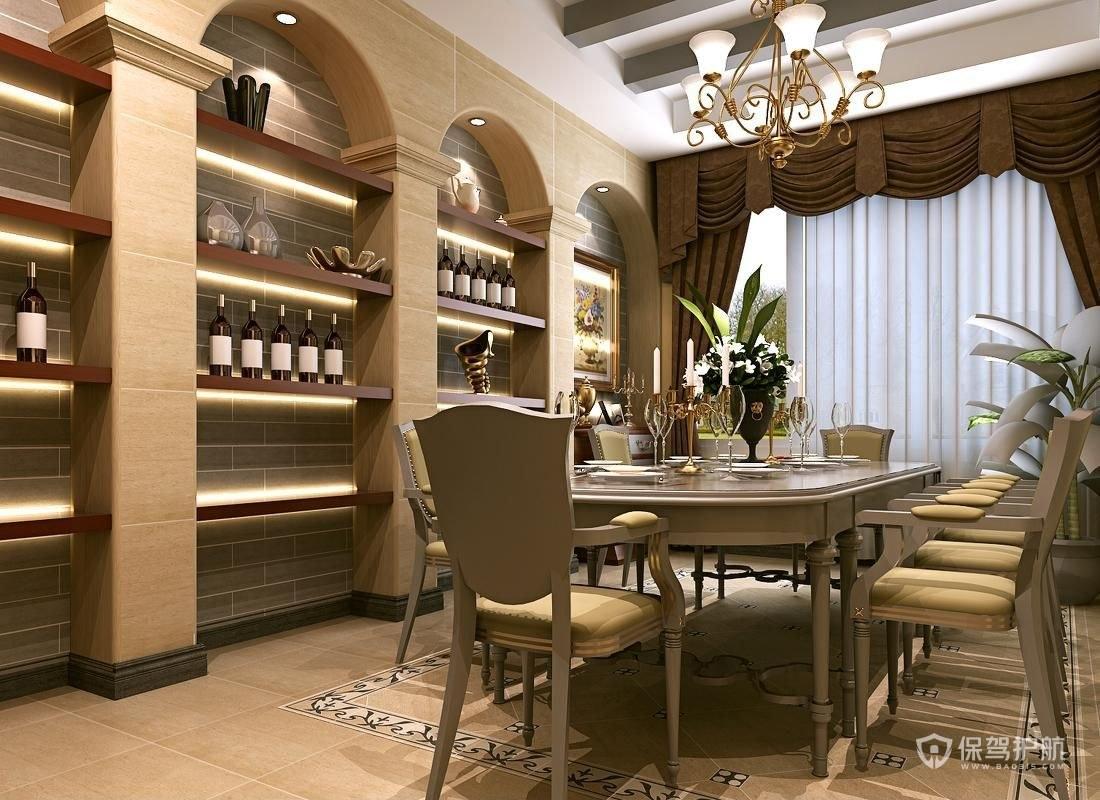 餐厅装修做酒柜好不好?餐厅酒柜设计有什么技巧?