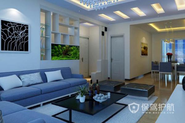 现代简约客厅装修效果图-保驾护航装修网