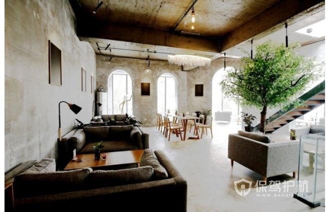 工业风简约咖啡店开放式装修效果图