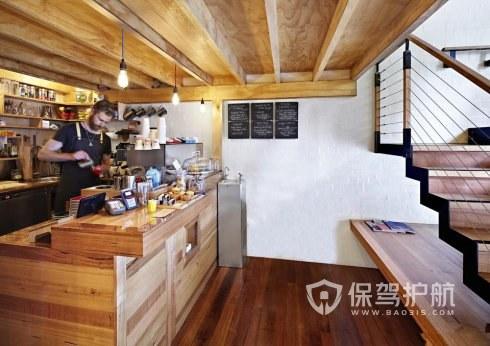 复式咖啡店面开放式装修效果图