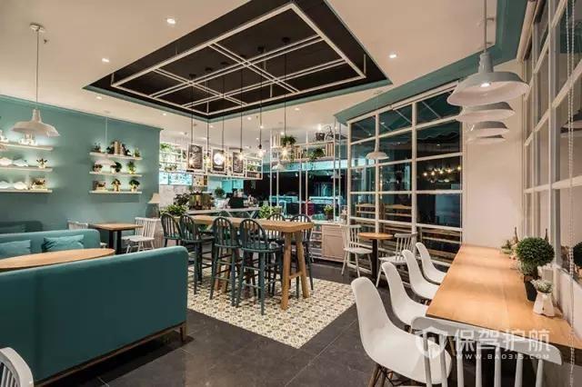 美式休闲开放式咖啡厅装修效果图