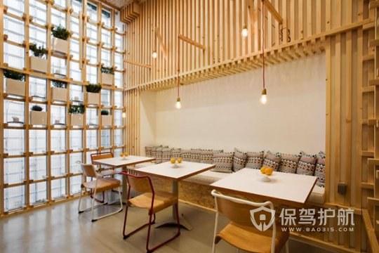 日式创意开放式咖啡厅装修效果图