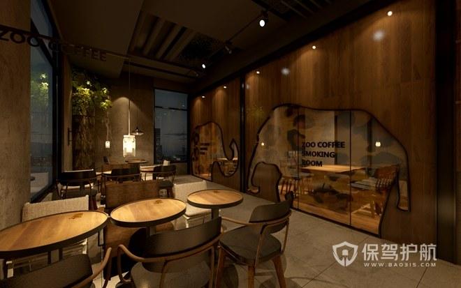 中式典雅咖啡厅效果图