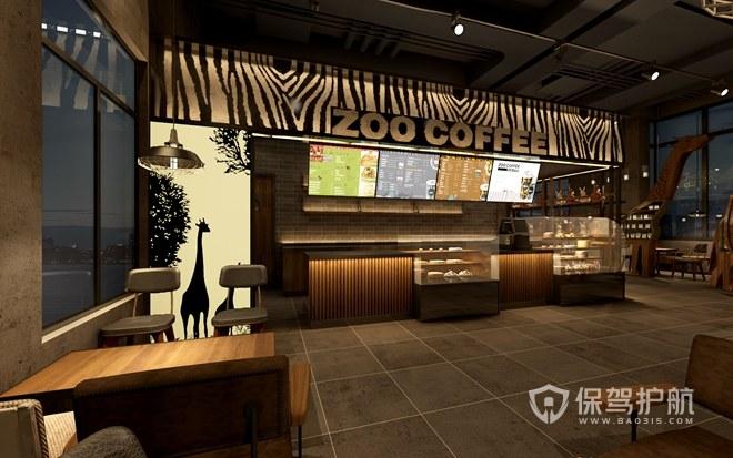 东南亚风情开放式咖啡厅效果图