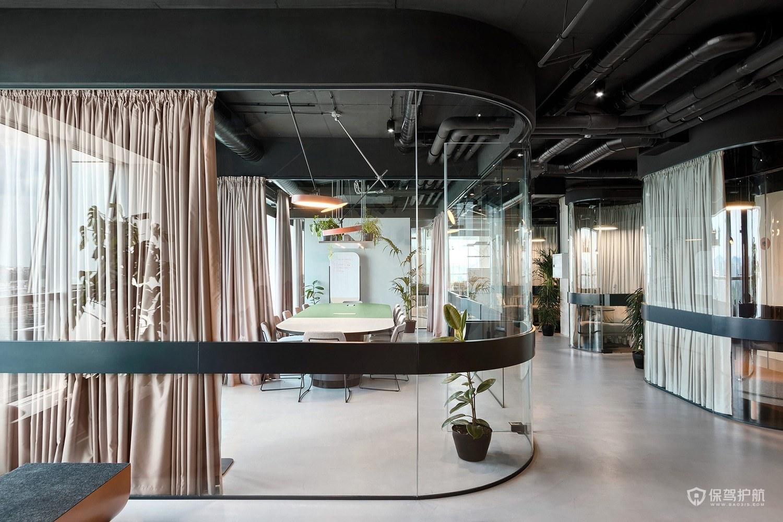 时尚办公室会议室装修效果图