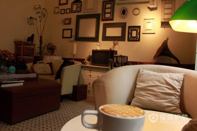 家庭式开放式咖啡厅效果图