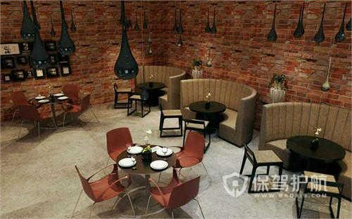 西式暖色咖啡厅装修设计图