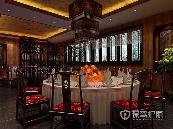 中式餐馆装修要点 中式餐馆装修效果图
