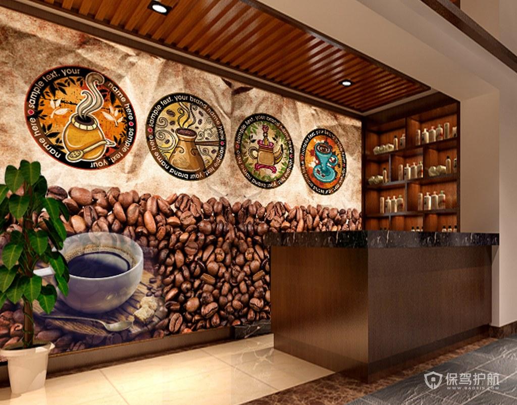 时尚混搭咖啡店装修效果图