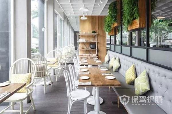 北欧小清新开放式咖啡厅图