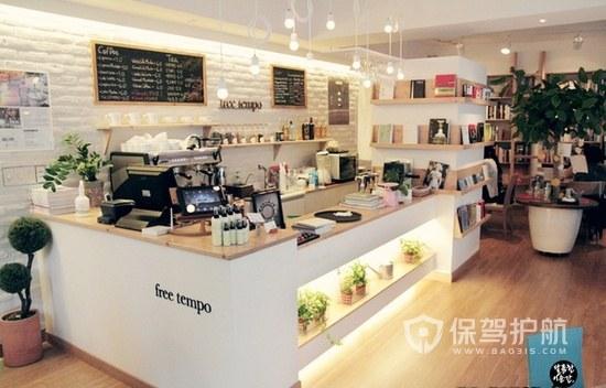 现代简约小型咖啡店装修效果图