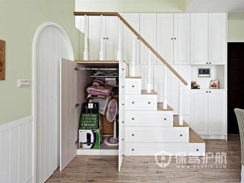 2019楼梯下面柜子造型图片 鞋柜位置的风水禁忌