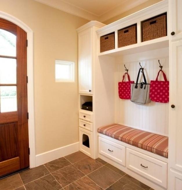 玄关板凳式鞋柜怎样设计? 玄关板凳式鞋柜图片