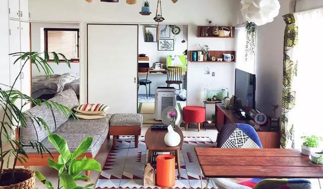 日本这个54㎡公寓装修,全用移门让家变大开间!