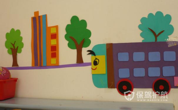 幼儿园墙面装修实景图