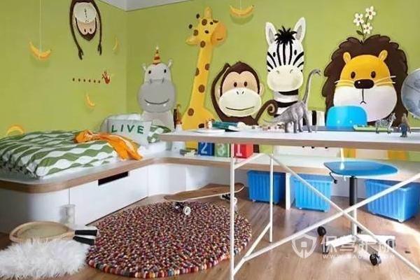 儿童房墙画设计效果-保驾护航装修网
