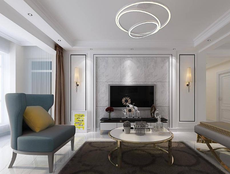 客厅影视墙效果图 装修客厅影视墙有什么风水禁忌?