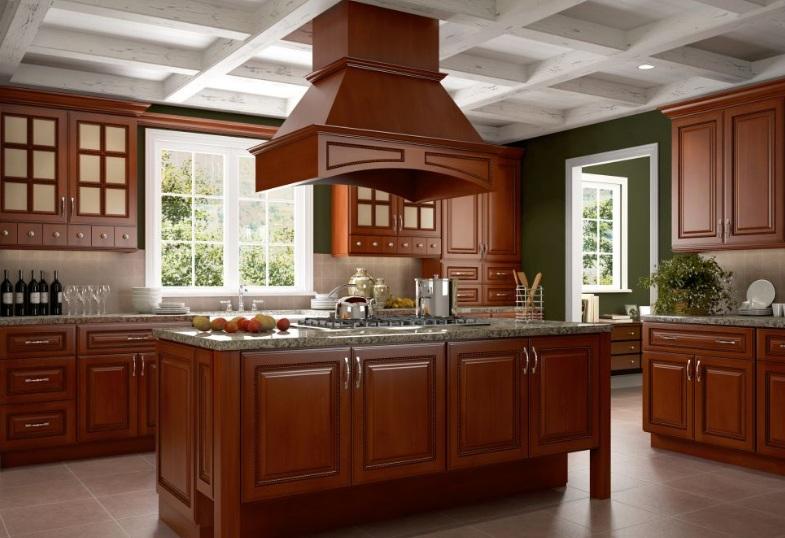 厨房安装实木橱柜好不好? 厨房实木橱柜凤凰时时彩平台永久网址图