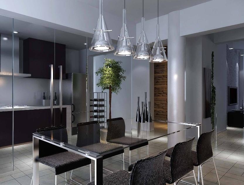 现代简约客厅吊灯效果图片:现代简约客厅可以安装什么吊灯?