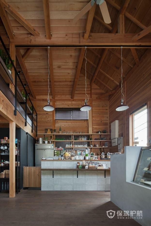 复式咖啡馆操作台装修效果图