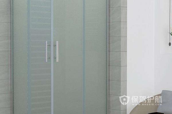 磨砂玻璃门安装图-保驾护航装修网