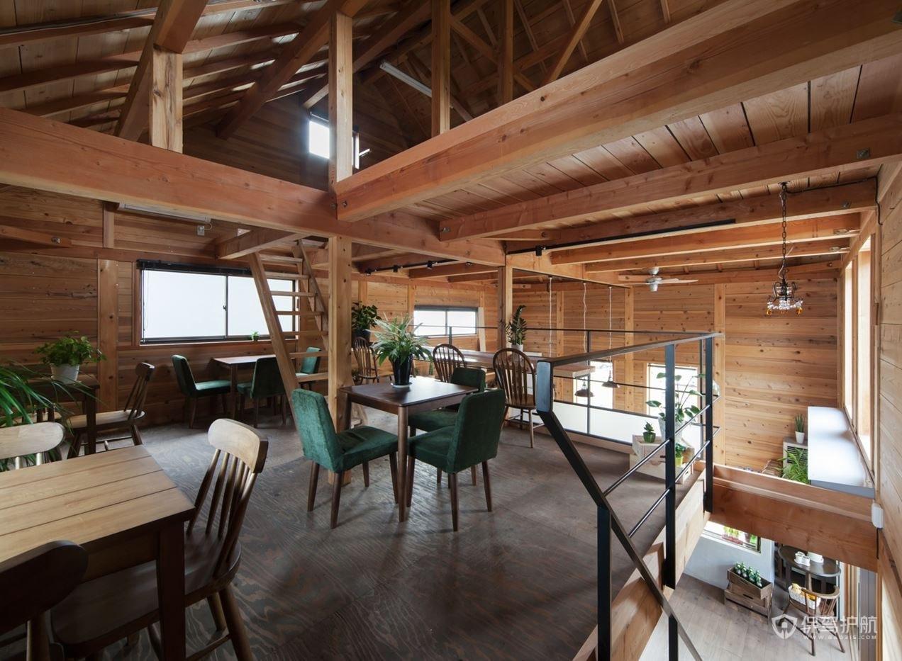 复式咖啡馆二楼设计效果图
