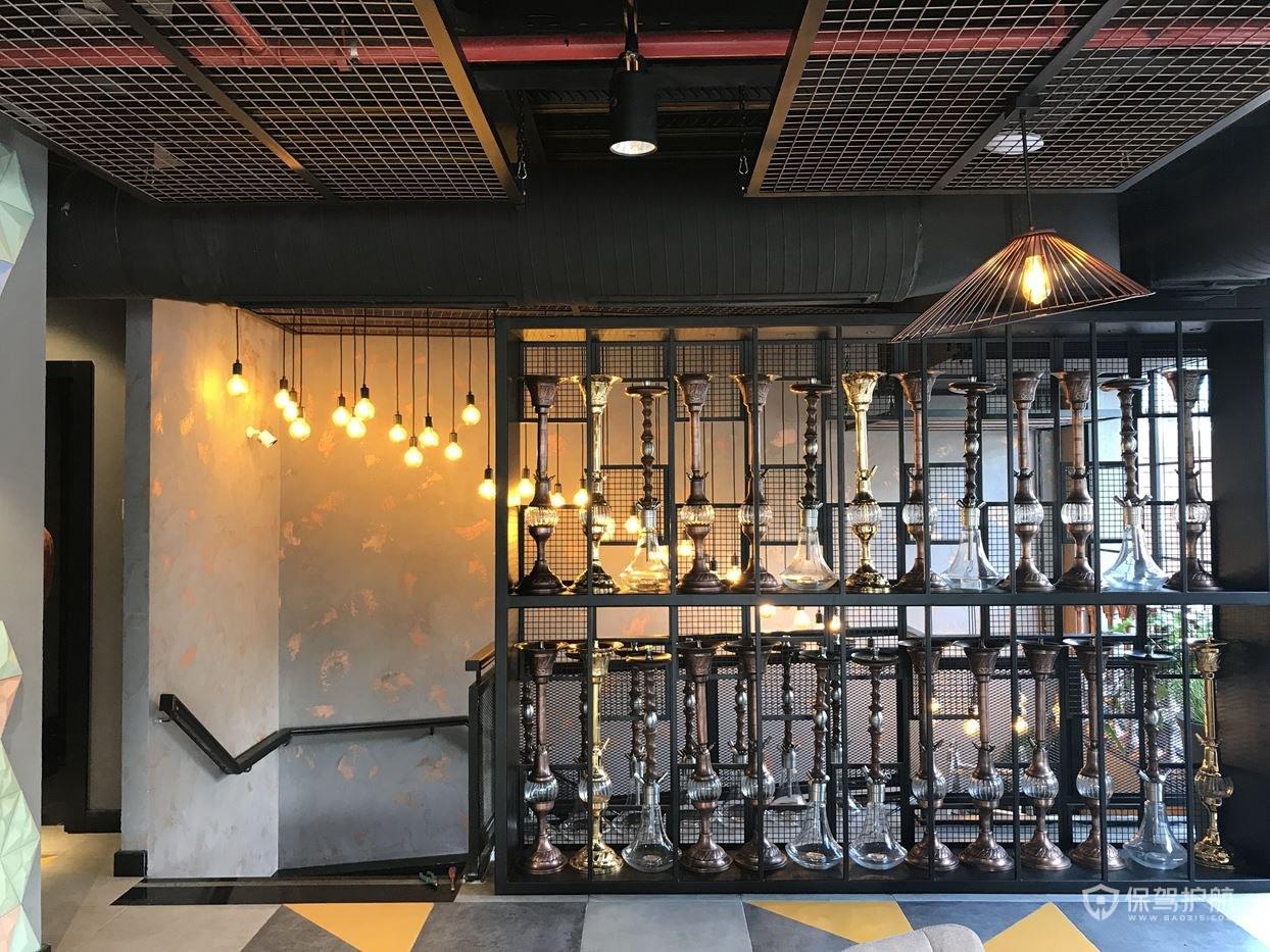 浪漫咖啡馆隔断设计效果图