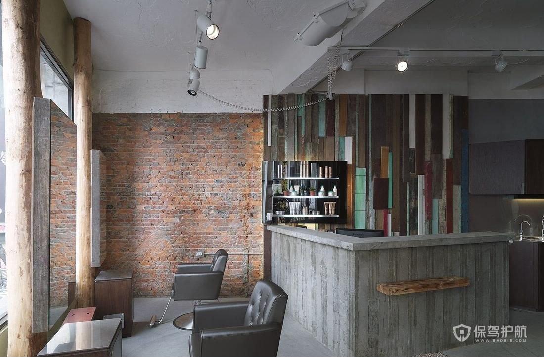 小型理发店简装效果图-保驾护航装修网