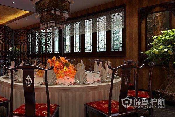 中式饭店桌椅布局-保驾护航装修网