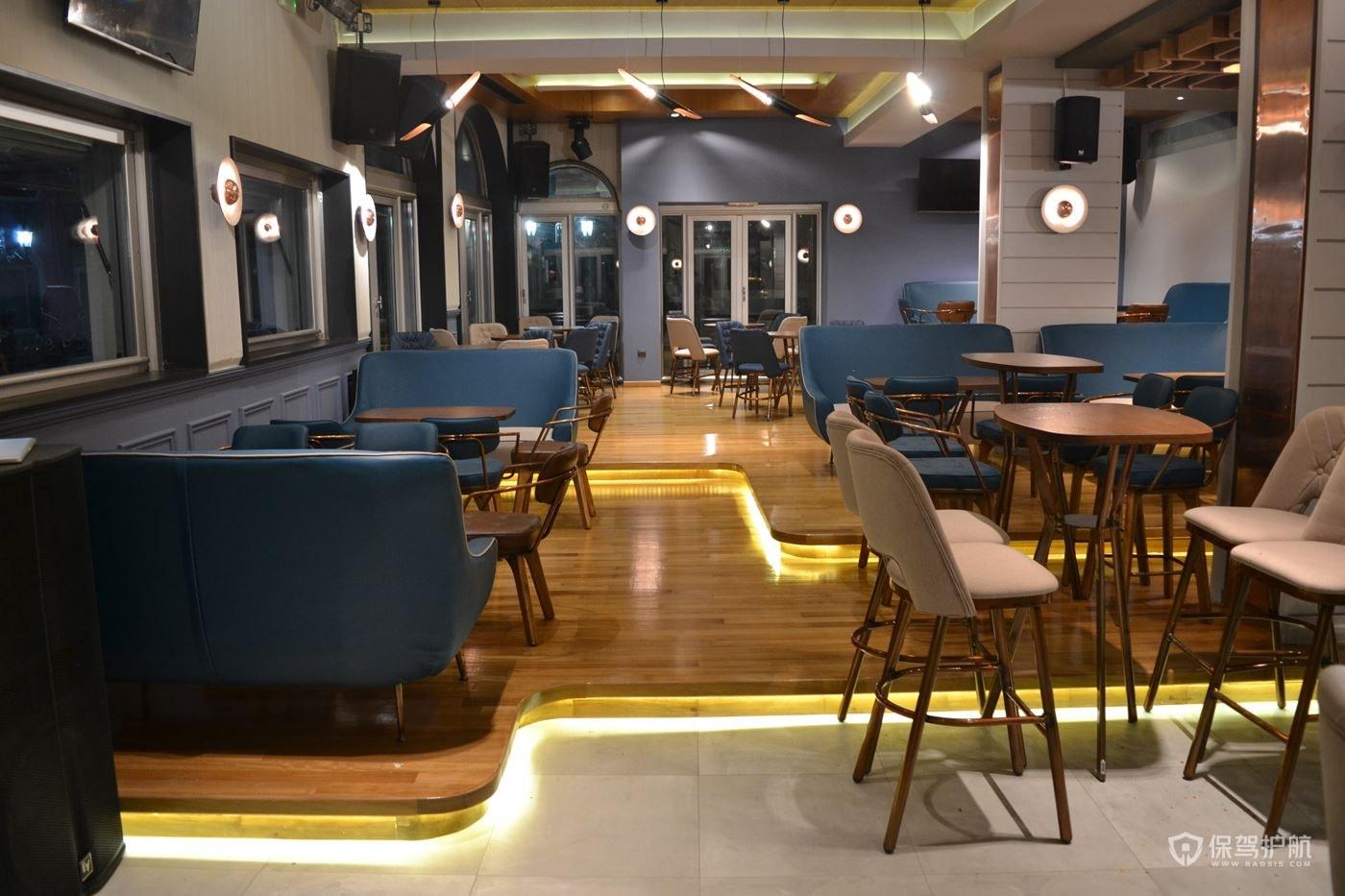 欧式咖啡馆桌椅布局效果图