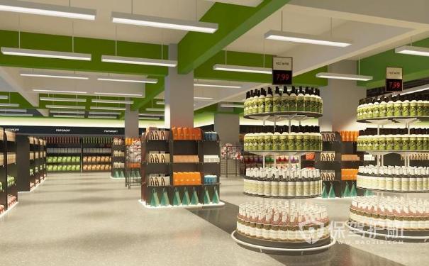 小型超市装修效果图 小型超市装修设计有哪些要点?_保图片