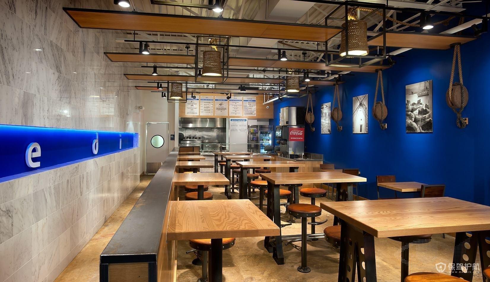 小型后现代工装饭馆装修效果图