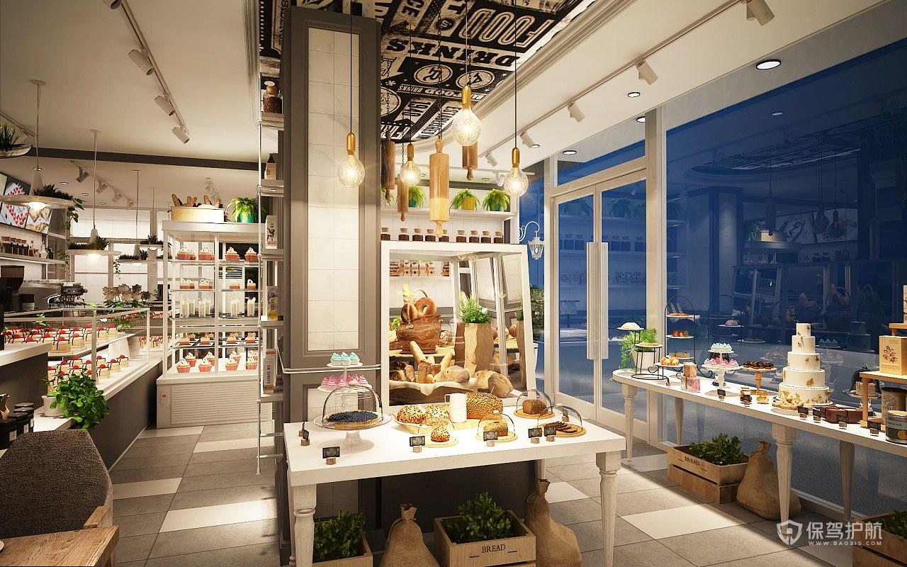 50平现代风格面包店装修实景图
