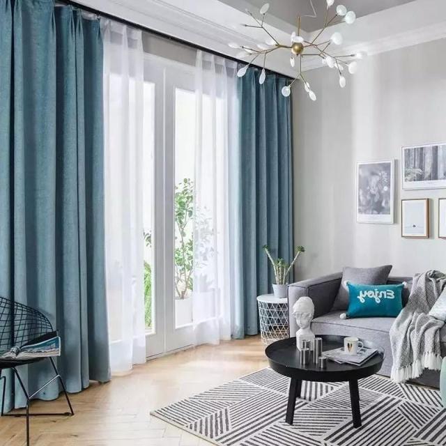 现代简约风格装修,窗帘配色干货多专治各种选择困难症!