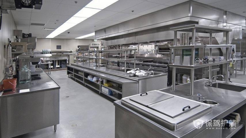 飯店廚房裝修效果圖-保駕護航裝修網