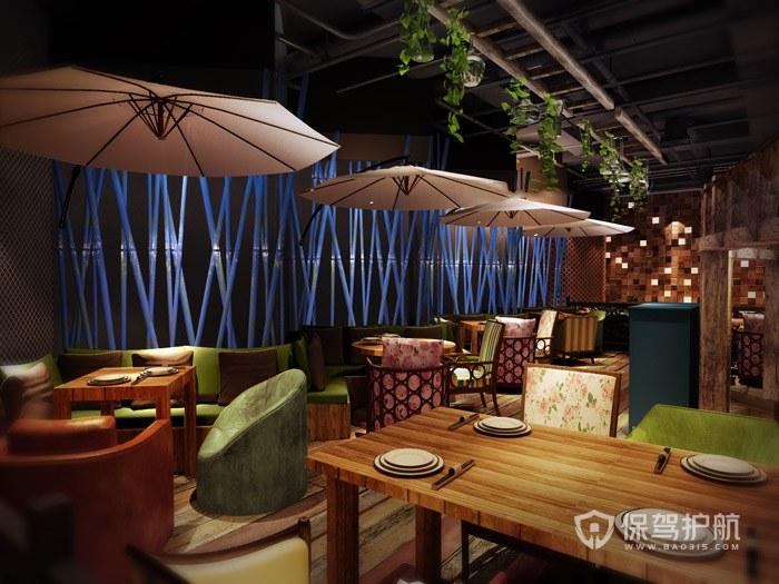 100平休闲餐厅装修实景图