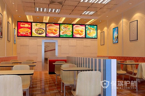 快餐店設計效果圖-保駕護航裝修網