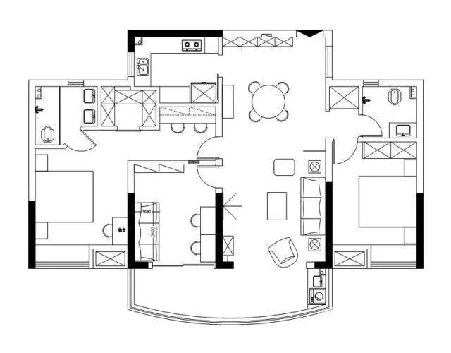 134㎡超佛日式风格三居室装修效果图-保驾护航装修网