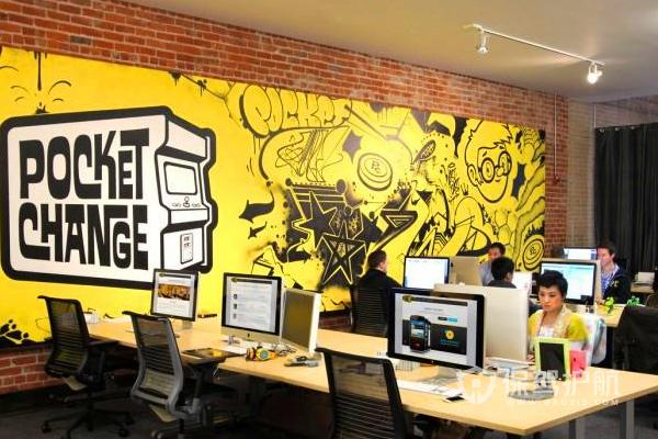 办公室创意涂鸦-保驾护航装修网