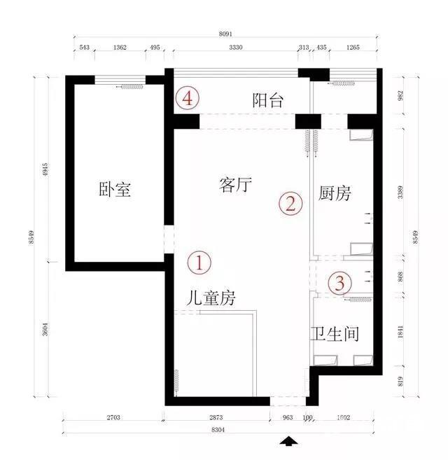 北京68㎡小户型装修-保驾护航装修网