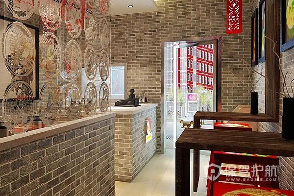 日式小吃店設計效果圖-保駕護航裝修網