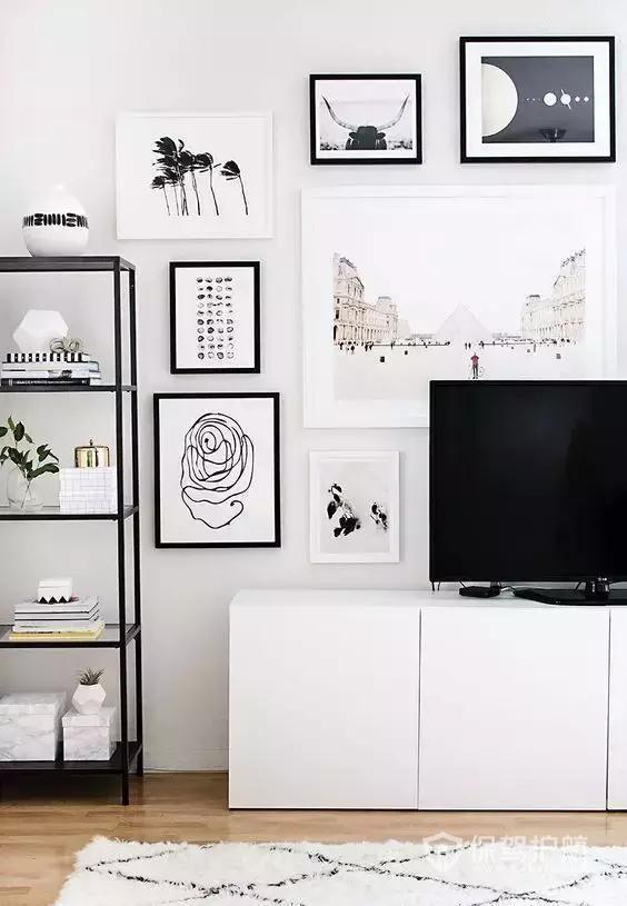小户型装修改造案例分享,几个安装电视墙的小妙招!